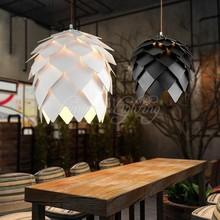 אירופאי אלון אצטרובל עץ עץ תליון אורות מנורות בציר DIY Creative אדיסון הנורה יפן כפרי השעיה תליית Lamparas