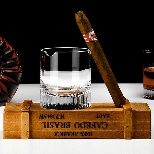 PRO Crystal Cigar Holder Glass Puritano Round Wine Glasses Whisky Usquebaugh XO Cup Brandy Whiskey Rock Vidro Verre Wholesale