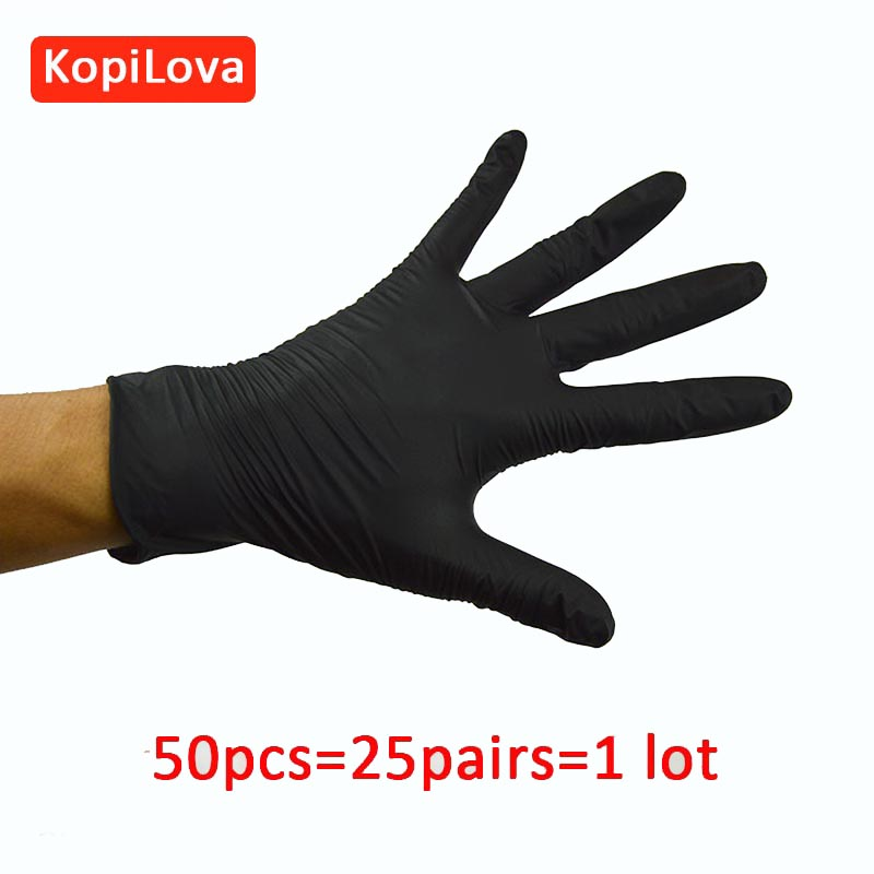KopiLova Disposable Black Nitrile Gloves For Food Processing Medical Dentistry Oil-proof Acid Resistance For Hands Protection