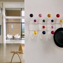 Multicolore Hange meubles portemanteau boule support multi usages crochet pour ornements muraux pour enfant cadeau métal sac décor.