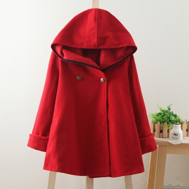 San Francisco d8adf 7ed9a Femmes hiver manteau rouge Cape laine vêtements automne vestes et manteaux  coupe vent pour femme 2019 nouvelles de AS191