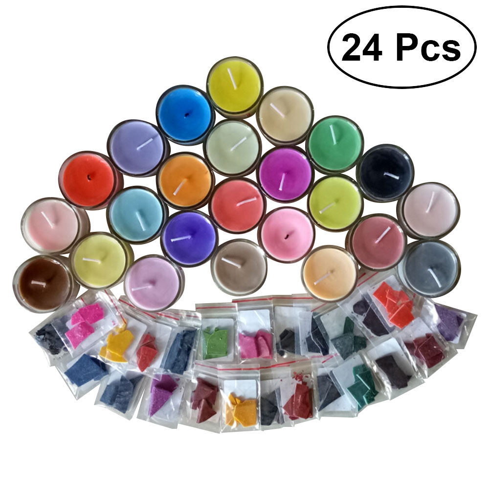 24 Farben 2g Pro Farbe Wachs Farbstoff Duftenden Ungiftig Diy Soja Kerze Wachs Pigment Farbstoff Für Kerzen Wachs (wachs Nicht Enthalten)