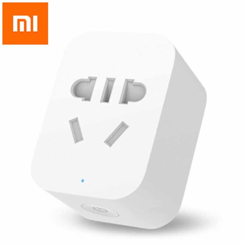 Oryginalny Xiao mi mi inteligentne gniazdo WiFi APP zdalne zegar sterujący wtyczka zasilania wykrywania zasilania wersja ZigBee wskaźnik LED Adapter