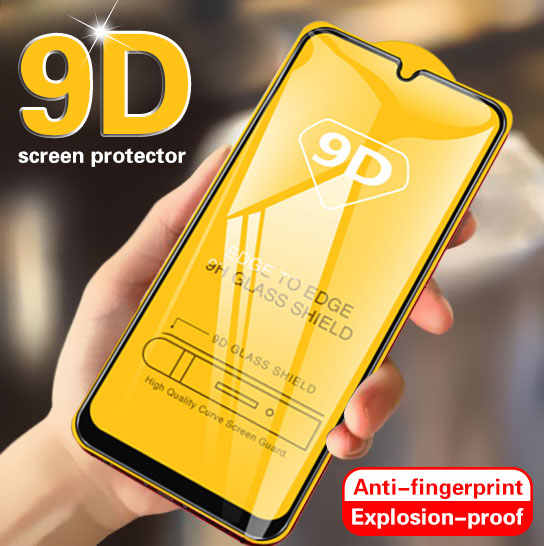 9D Curved Tempered Glass on For Samsung Galaxy A50 A20 A10 Screen Protector For Samsung M10 M20 M30 A70 A40 A30 Protective Glass