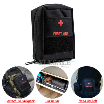 Portable Military First Aid Kit Empty Bag Bug Out Bag Water Resistant