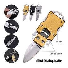 EDC с надписью, самокарманный нож для бушкрафта, портативный нож для защиты от кожуры, открытый боевой многофункциональный нож для резки посылок