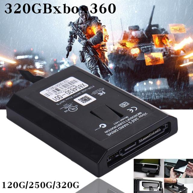 US $16 85 9% OFF|2018 New XBOX 360 Hard Drive 120G/250G/320G For Microsoft  XBOX360 Slim Console Games-in External Hard Drives from Computer & Office