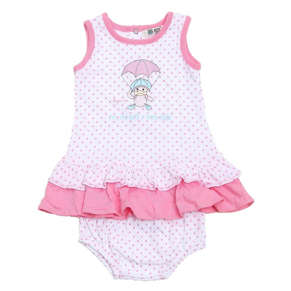 Conjunto de ropa de niña LeJin Vestido de bebé estampado para el - Ropa de bebé