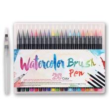 20 kleuren Schilderen Zachte Borstel Pen Set Professionele Aquarel Markers Pen Set Voor Manga Kinderen Volwassenen Art Supplies Art Marker