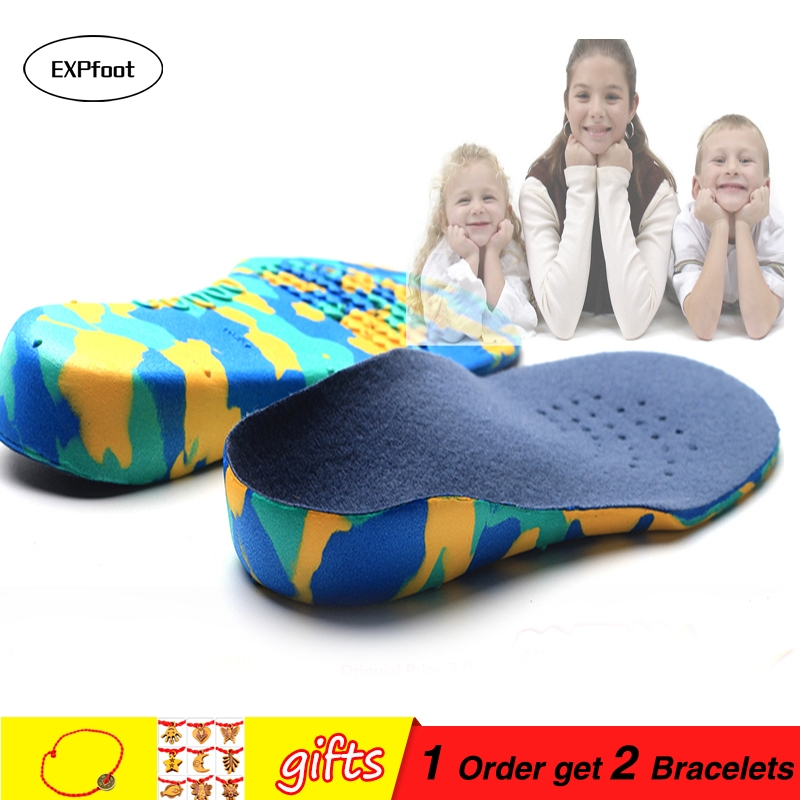 kid's insole Premium Grade Orthotic Insole by EXPfoot  Lightweight Soft & Sturdy Orthotic insole For Flat Feet and Arch Support