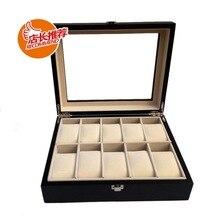 Деревянный ящик для ювелирных изделий 10 Крашеные деревянные часы Подарочная коробка Соберите часы дисплей коробка