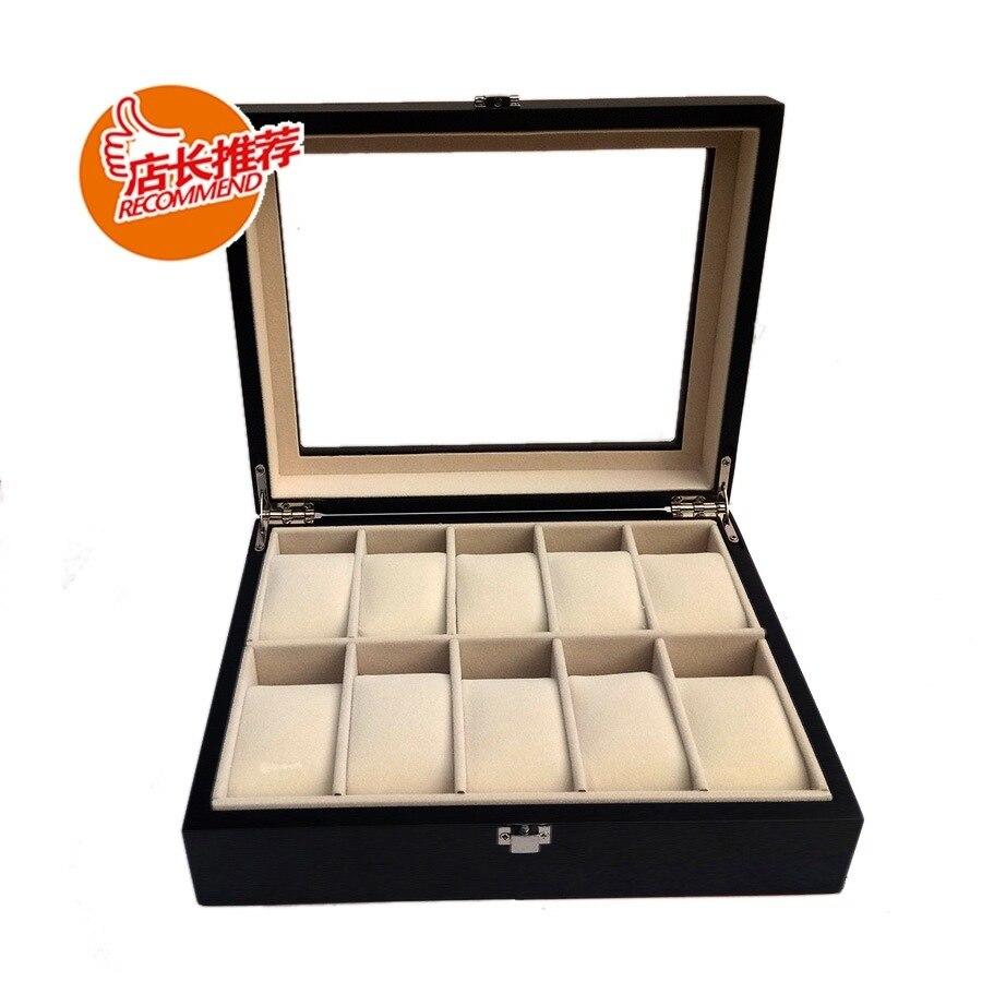 Boîte à bijoux en bois 10 peinture boîte à montre en bois boîte cadeau Collection montre boîte d'affichage