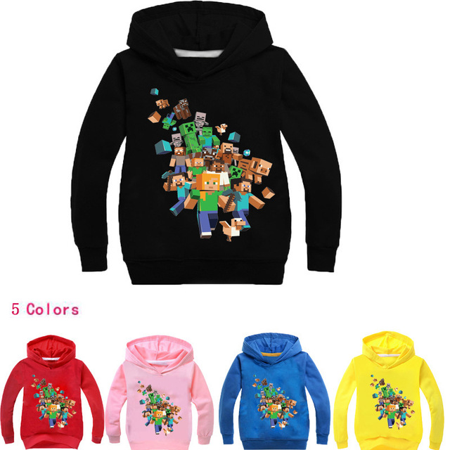 82aff0a6 US $5.76 20% OFF|2019 Boys Sweatshirts Minecraft Cartoon Girls Hoodies Tops  Kids Hooded Children's Clothes T Shirts Brand Minecraft Clothing Tees-in ...