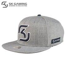 Бейсболка SK Gaming мужская серая с прямым козырьком