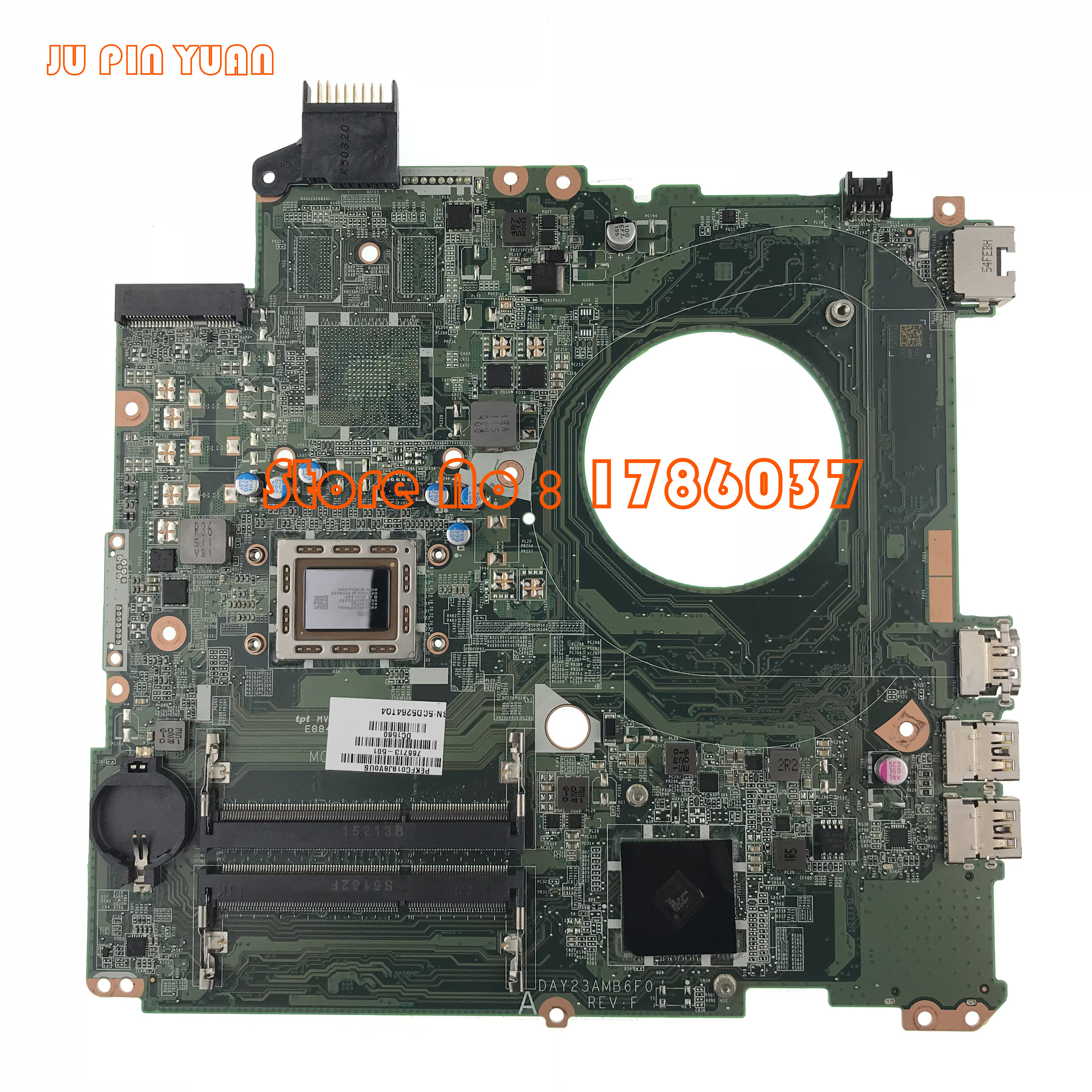 JU PIN YUAN 766713-501 766713-001 DAY23AMB6C0 mainboard For hp pavilion 15-P 15Z-P Motherboard A8-5545M  fully TestedJU PIN YUAN 766713-501 766713-001 DAY23AMB6C0 mainboard For hp pavilion 15-P 15Z-P Motherboard A8-5545M  fully Tested