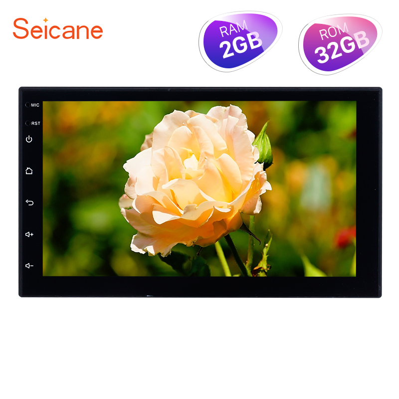 Seicane High Version RAM 2GB ROM 32GB Android 8.1 7 Inch 2Din Universal Car Radio GPS