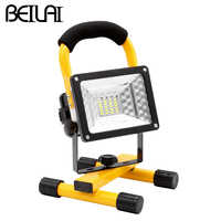 SMD 5730 LED Flashlight 3 Mode 24 LED Floodlight Waterproof Portable Torch LED Flood Light Outdoor Spotlight Use 18650 Battery