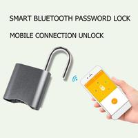 Mini Smart Bluetooth Password Lock Phone APP Padlock Anti Theft Door Lock for Suitcases Doors Cabinets Bicycles