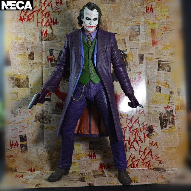 50 Cm Grande Neca Batman Dark Knight Joker Heath Ledger 1/4 Scala Arma Veneno de Ação Pvc Figura Coleção Toy Modelo