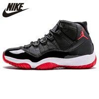 Nike Air Jordan XI Bred AJ 11 Men's Laceup Comfortble Basketball Shoes Lifestyle Male Shock Absorption Sneakers #378037 010