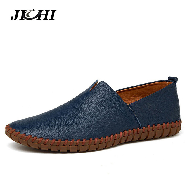 2019 Big Size Leather Casual Men Shoes Summer Breathe Men Luxury Driving Shoes Slip on Casual Male Flats Loafers Hot Sale 38-50