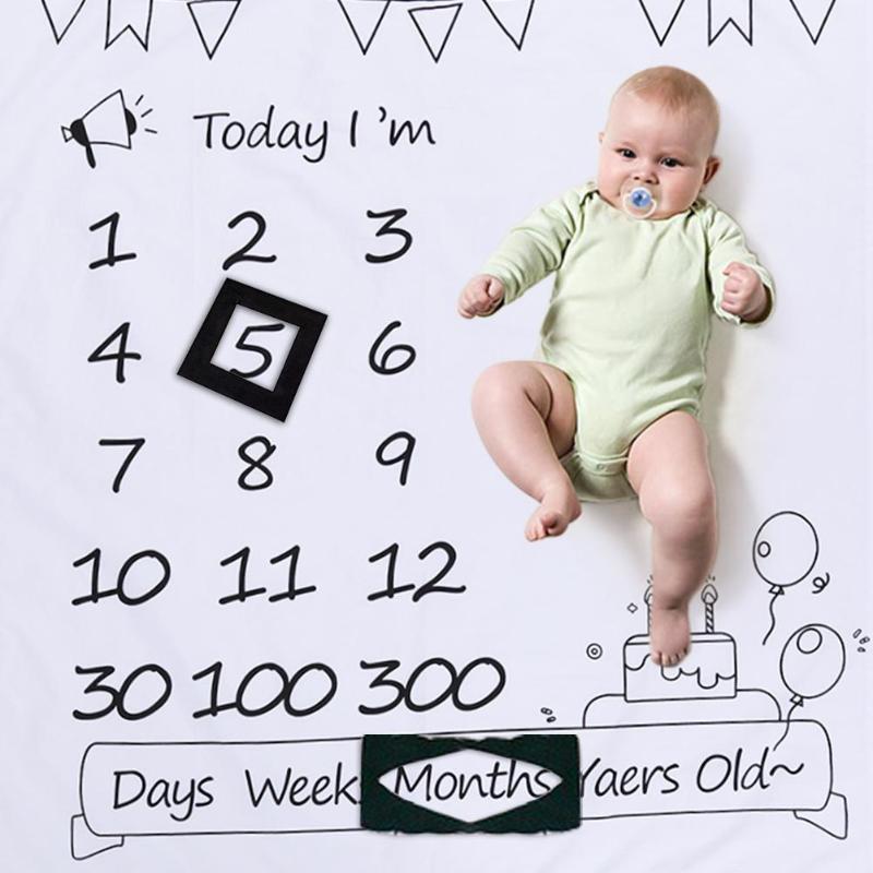1 Pc Blume Gedruckt Baby Decken Swaddle Wrap Nette Weiche Decke Newborn Mode Bade Handtücher Diy Infant Kinder Fotografie Requisiten