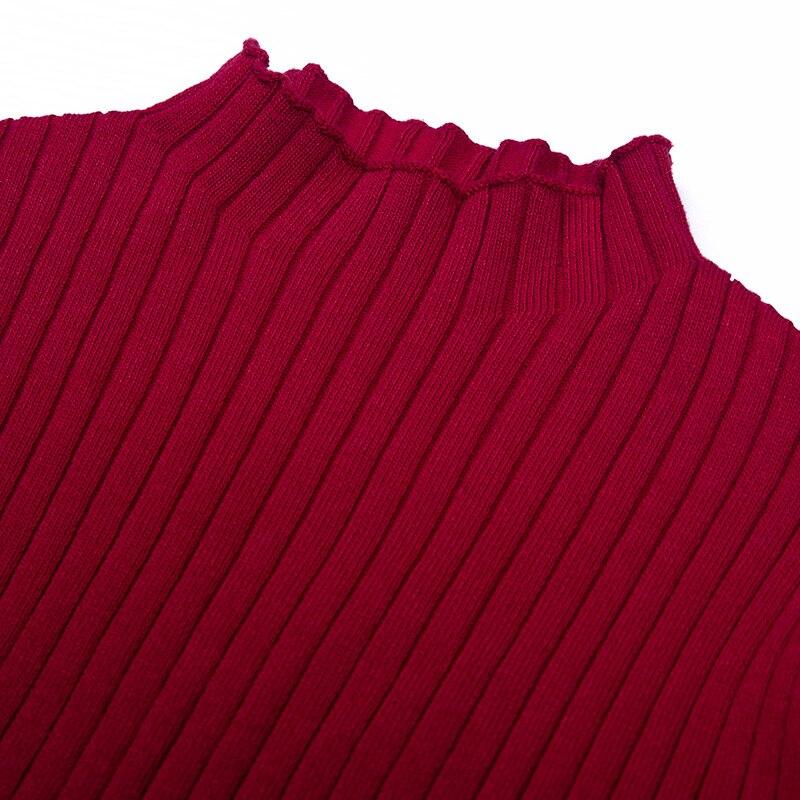 2019 Qualité Longues Printemps Décontracté Doux Manches Femmes Longue Pullover Tricots Robe Supérieure Hiver Mode Pull Automne À Tricoter 8pxq8rRHw