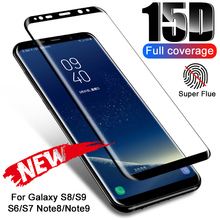 Verre trempé pour Samsung Galaxy S8 S9 S7 S6 Edge Plus Note 9 8 15D protecteur décran incurvé complet pour Samsung S9 S8 Film de verre