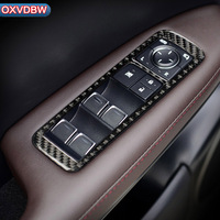 for Lexus RX300 270 200T 450H Accessories 2016 2019 Carbon Fiber Car Window Switch Armrest Panel Trim Car Styling Stickers