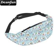 Deanfun Water Resistant Love Alpaca Man Fanny Pack Bags Travel Llama Waist Adjustable Belt Hip Bum Bag  YB-39