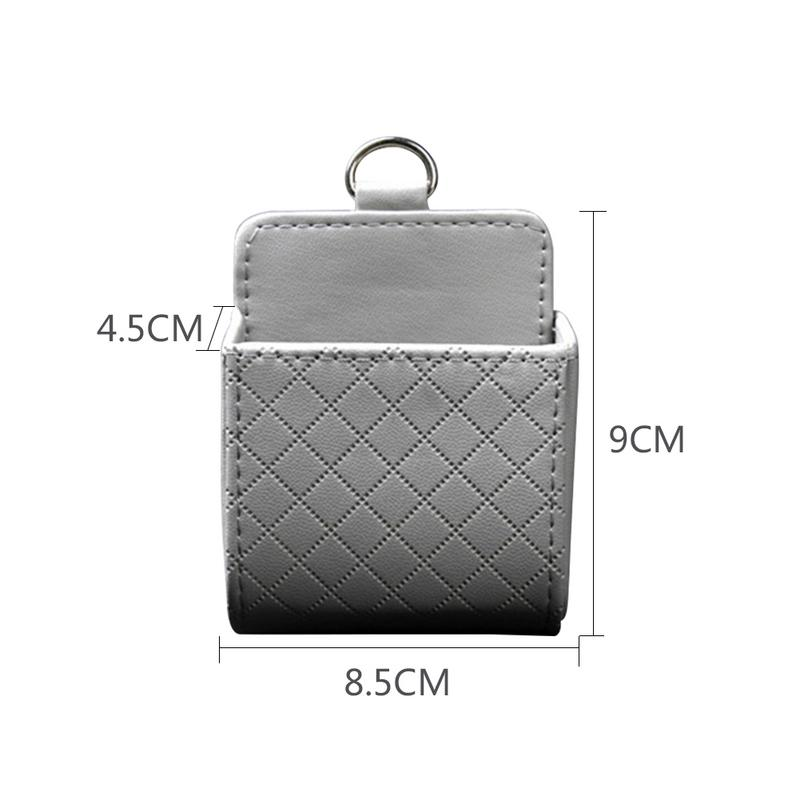 Car Storage Bag Air Outlet Vent Lambskin Leather Air Conditioning Port mounted Large screen Mobile Phone Auto Organizer in Stowing Tidying from Automobiles Motorcycles