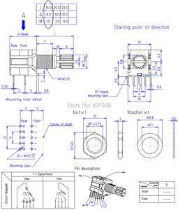 Image 5 - 5 adet RS1010 bant anahtarı döner anahtar vites değiştirme anahtarı 1 kutuplu 5 pozisyon 2 kutuplu 4 pozisyon 3 pozisyon