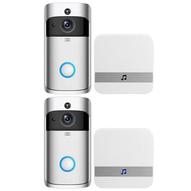 WiFi Smart Wireless Security DoorBell HD 720P Visual Intercom Recording Video Door Phone Remote Home Monitor with Receiver