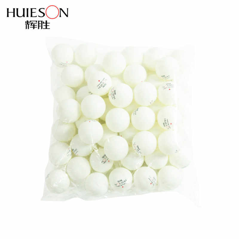 Huieson 100pcs/bag ABS Plastic Table Tennis Balls 40mm+ One Star New Material  Ping Pong Balls for Teenagers Club Training D40+