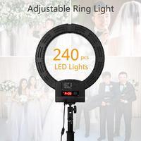 RL 560D Camera Photo Studio Phone Video 36W 240pcs LED Ring Light 5500K Photography Dimmable Ring Lamp