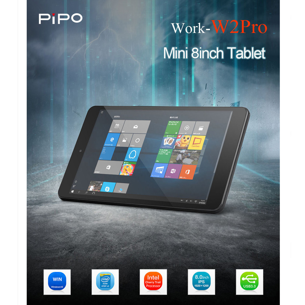 Pipo W2PRO Tablet PC 8 inch Windows 10 Android 5.1 Tablets Intel Cherry Trail Z8350 Quad-Core 1.44GHz 2GB 32GB 1920 X 1200 IPS