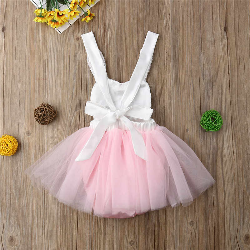 26cd142f5a80 ... Fashion Infant Baby Girl Rabbit Lace Princess Dress Sequins Easter  Clothes Baby Girl Bunny Bow Tutu
