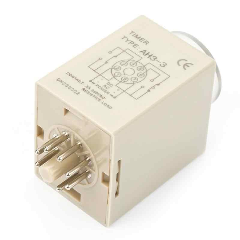 AH3-3 8 Pin 10 Giây 0-10 s Power On Trễ Hẹn Giờ Rơle Thời Gian 8 Thiết Bị Đầu Cuối Trễ Hẹn Giờ Rơle hội đồng tiếp sức Nóng Bán