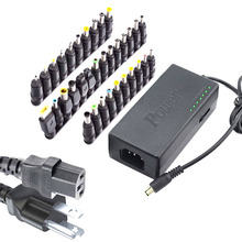 34Pcs Universal Power Adapter 96W 12V To 24V Adjustable Portable Charger For Dell Toshiba