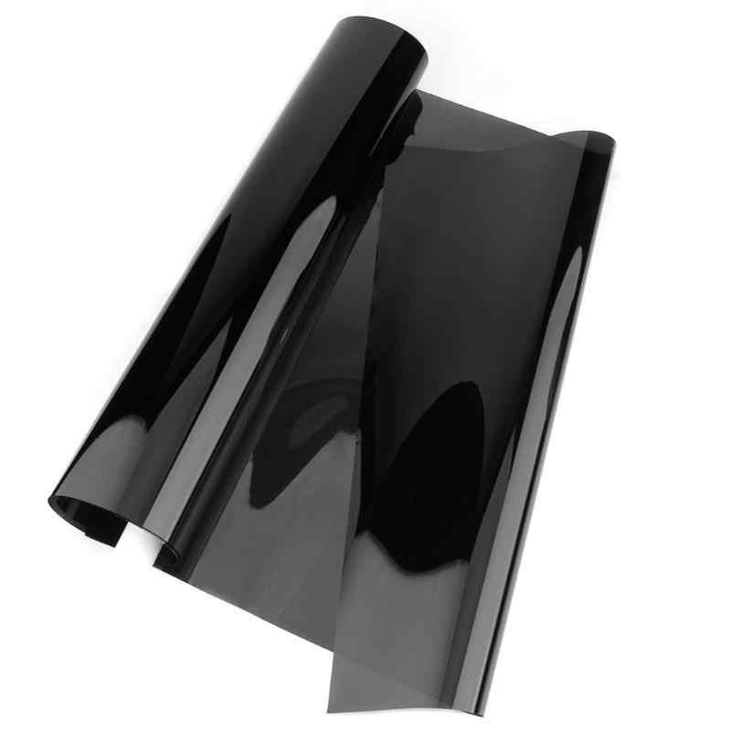 1mx50cmVLT สีดำ Car Auto Home กระจกหน้าต่างย้อมสีม้วนฟิล์ม Scraper รถอุปกรณ์เสริม Dark สีดำรถฟิล์มแก้ว