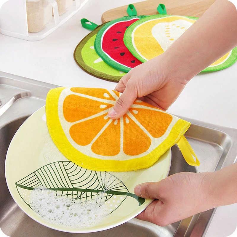 Toallero de fruta para Recién Nacido Kiwi nuevo bebé toalla suave para manos niños Fruta de dibujos animados colgando toallita baño cara caliente toalla redonda