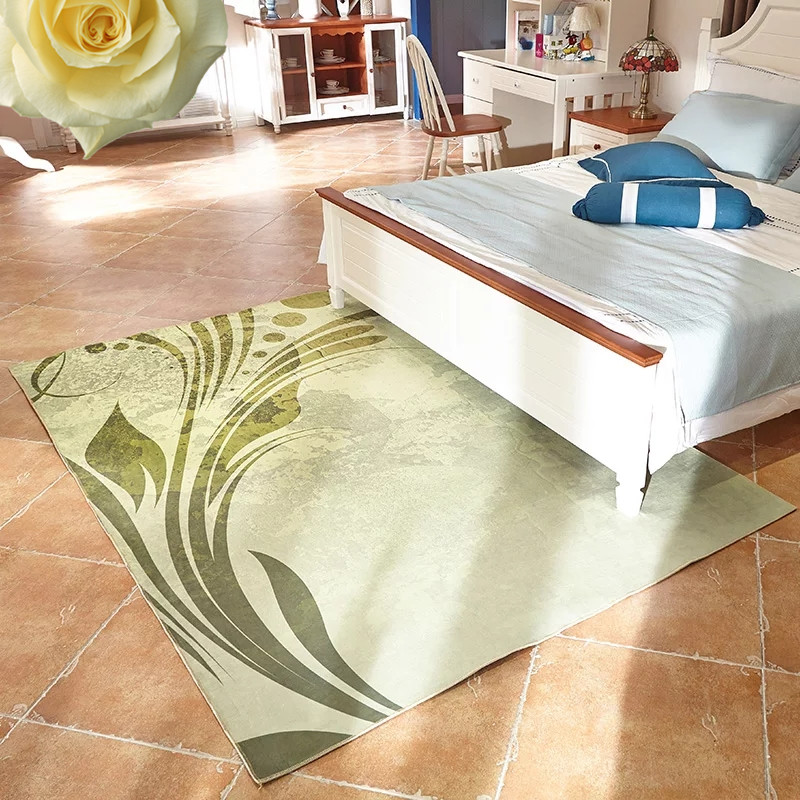 3D simple printed carpet bedroom coffee table living room kitchen bathroom full floating window blanket in Carpet from Home Garden