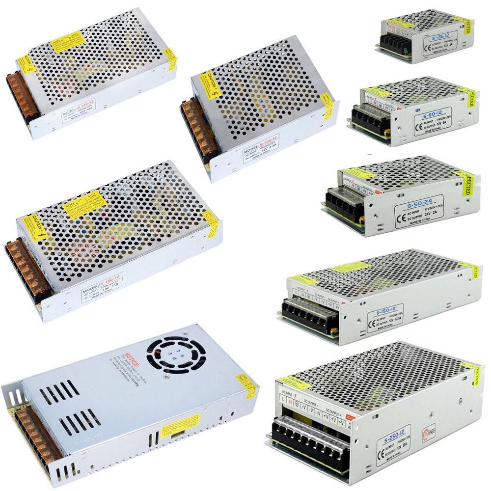 AC 110 V-220 V À DC 5 V 12 V 24 V 1A 2A 3A 5A 10A 15A 20A 30A 50A Commutateur Adaptateur Conducteur LED d'alimentation Lumière De Bande
