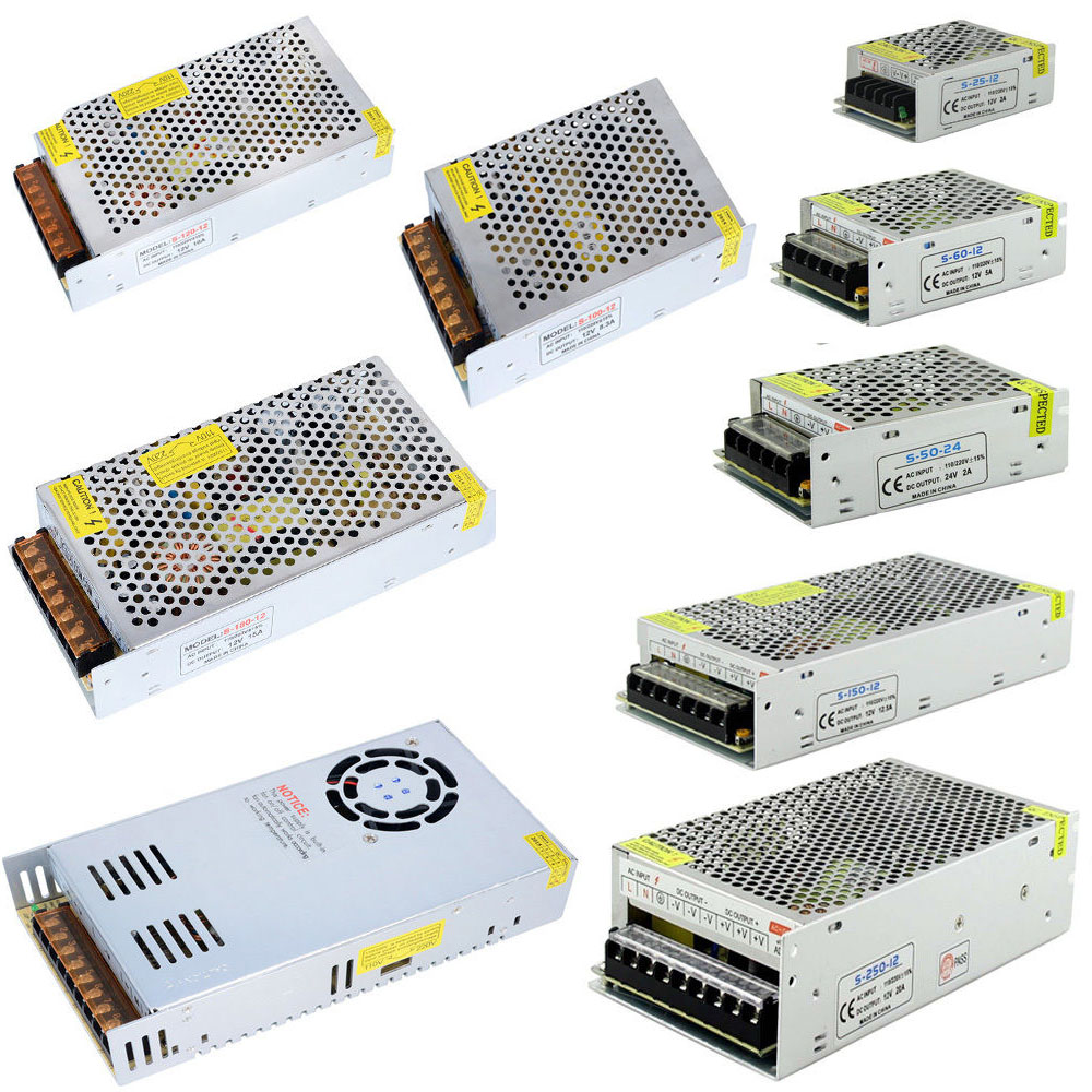 AC 110 V-220 V TO DC 5 V 12 V 24 V <font><b>1A</b></font> 2A 3A 5A 10A 15A 20A 30A 50A Switch <font><b>Adapter</b></font> Driver Power Supply LED Strip Light image