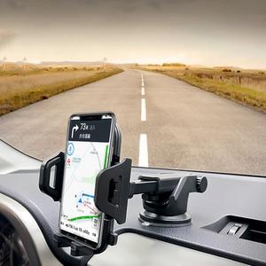 Image 1 - לארווין רב פונקצית רכב טלפון מחזיק שמשה קדמית לוח מחוונים עבור iPhone xiaomi נייד טלפון מחזיק תמיכת smartphone voiture