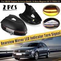 Rearview Mirror Cover Light LED Sequential Indicator Turn Signal For VW B7 Sagitar Scirocco Beetle 16 Bora Magotan B7 C TREK CC