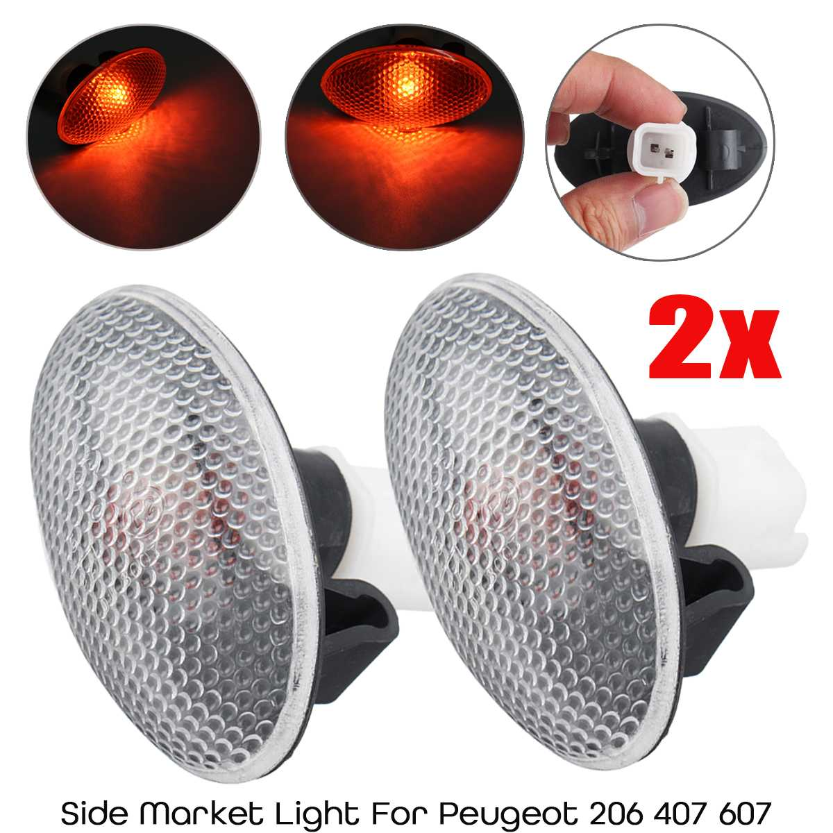 1 Paar Voor Peugeot 206 407 607 12 V 55 W Auto Side Indicator Marker Licht Repeater Licht Lamp 632574 Bevordering Van Gezondheid En Genezen Van Ziekten