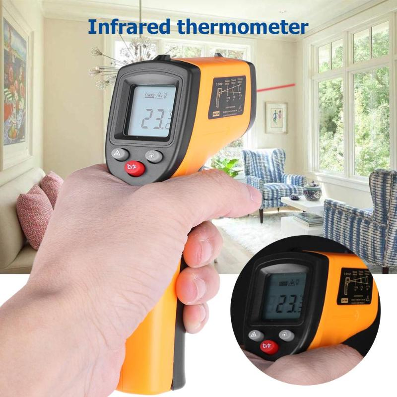 GM320 Termometro A Infrarossi Senza Contatto digitale Pirometro IR Point Laser Gun con Retroilluminazione-50 ~ 380 gradi Per Industial utilizzare il NUOVO