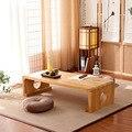 Muebles de madera de interior Vintage japoneses estilo asiático café té sala de estar mesa baja rectángulo 60*40 cm suelo de Tatami mesa de HW08