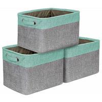 Foldable Japanese Cotton Linen Storage Basket Clothes Storage Box Toy Storage Box Car Storage Box Multi function High Quality